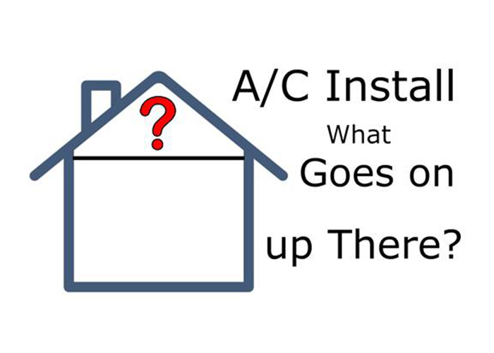 This Joe Cools video shows what goes on inside your ceiling or attic space when an air conditioner is installed.